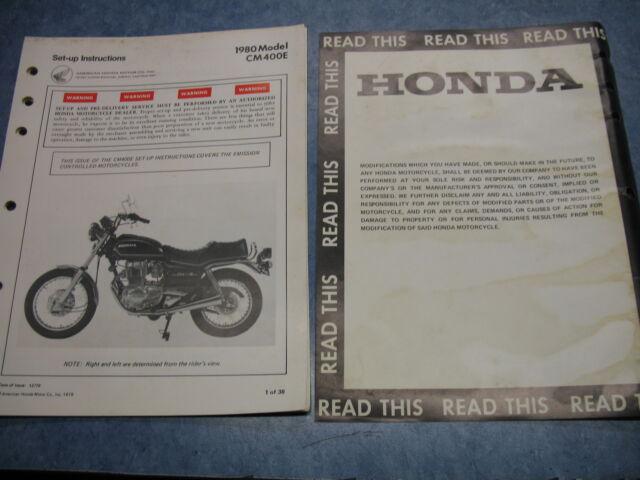 80 Cm400e Cm400 E Honda Factory Oem Assembly Set Up Manual Wiring Diagram
