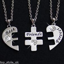 Three Part Necklace Set for three Best Friends Graduation Birthday Gift Present