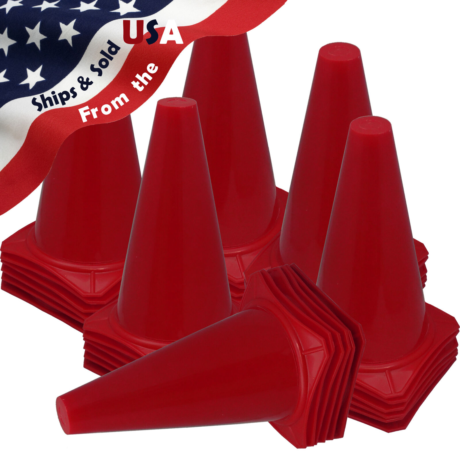 BRAND NEW  US SELLER  RED CONES 9  Tall Traffic Safety Training  Qty 36