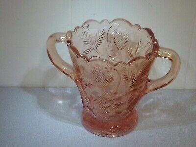 Vintage Pink Depression Glass Fenton, Vintage Pink Depression Glass Vase