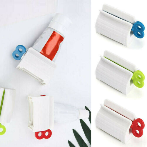 Rolling Tube Toothpaste Squeezer Toothpaste Easy Dispenser Seat Holder Stand US