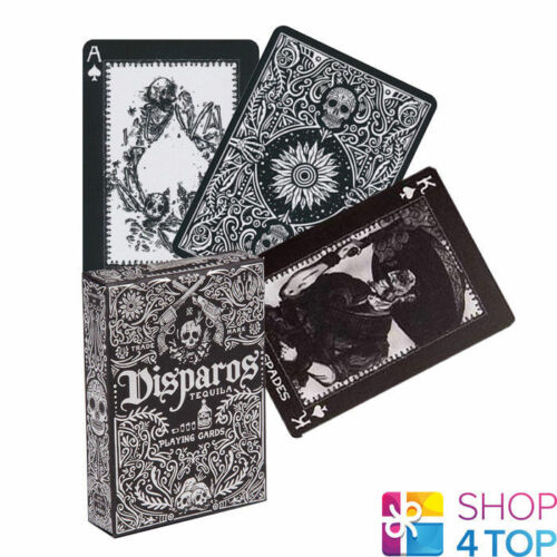 ELLUSIONIST DISPAROS BLACK PLAYING CARDS DECK TEQUILA BICYCLE NEW