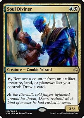 IN HAND!!! MTG Rare War of the Spark Soul Diviner x4 NM