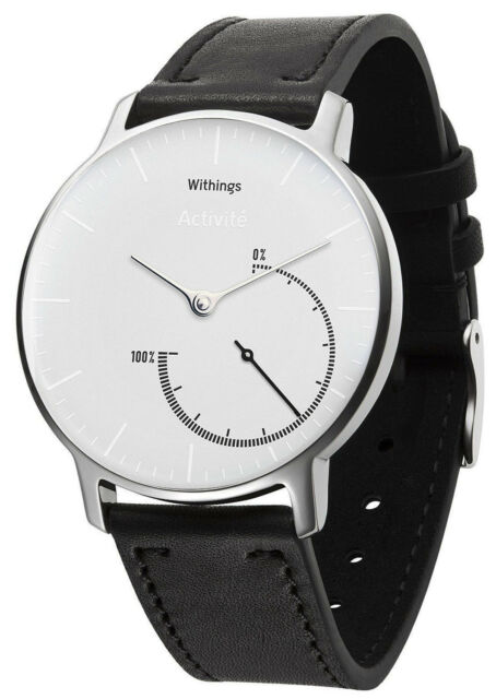 Withings Activite Steel Bianco Inflight Aktivitaetstracker con Tauschband HWA01