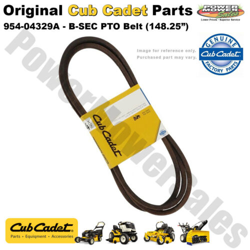 Genuine Cub Cadet Replacement B-SEC PTO Belt for RZT Models 954-04329A