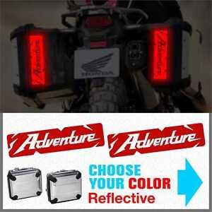 2x-ADVENTURE-Rifrangenti-ADESIVI-compatibile-con-HONDA-valigie-laterali-CRF1000L