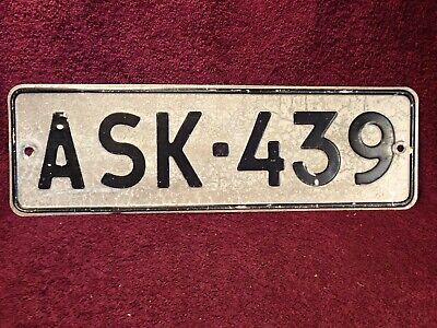 ASK-439 VINTAGE USED EMBOSSED METAL CAR LICENSE PLATE ...