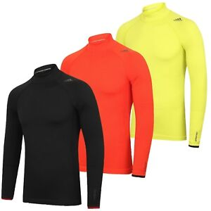 739086a6732d2 Image is loading adidas-Mens-TechFit-climaheat-Long-Sleeve-Mock-Compression-