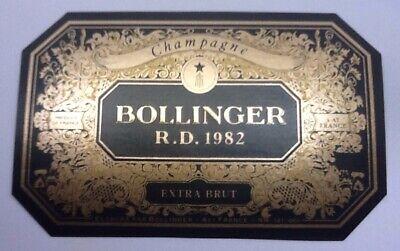 MILLÉSIME 1973-77 CL BOLLINGER ÉTIQUETTE CHAMPAGNE #7006