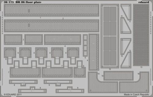 Neu Ätzsatz Eduard Accessories 36175-1:35 Br 86 Floor Plate For Trumpeter