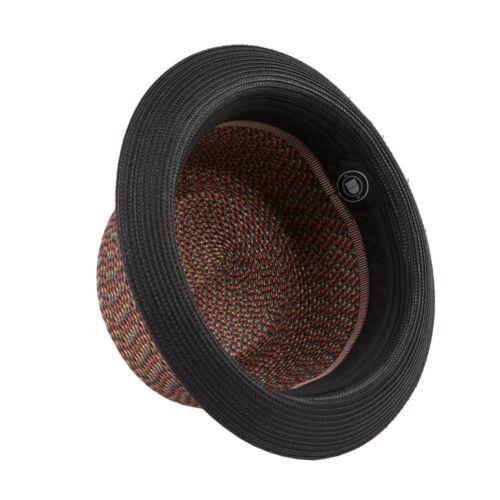 Bill Men/'s Women/'s Summer Retro Straw Porkpie Hat