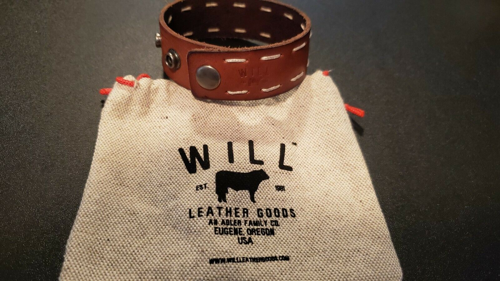 Will Leather Goods Cuff Bracelets (lot of 2) Adjustable Size