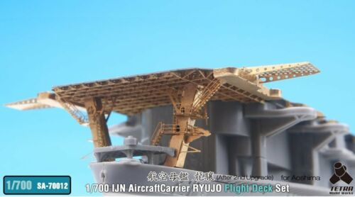 Tetra Model SA70012 1//700 IJN Ryujo After 2nd Upgrade Flight Deck for Aoshima