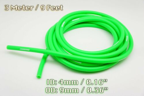 3 METRE GREEN SILICONE VACUUM HOSE AIR ENGINE BAY DRESS UP 4MM FIT M-BENZ