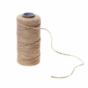 3mm-x-5mtr-3-Ply-Natural-Brown-Soft-Jute-Twine-Sisal-String-Rustic-Shabby-Cord