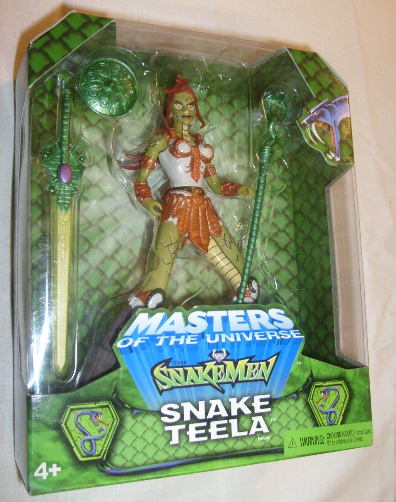 MOTU Green Card Snakemen 200X SNAKE TEELA Toyfair Exclusive Figure MOC FREE S H