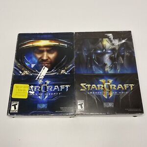 STARCRAFT II Wings Of Liberty & Legacy Of The Void Lot Of 2 PC Computer Games