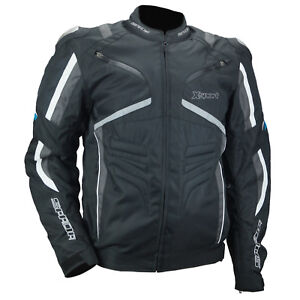Details About Spada X Sport Textile Air Vented Summer Motorcycle Jacket Black Grey White Sale