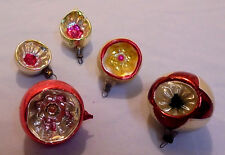 """Christmas Tree Glass Ornament, 5 With Indents, 2.25"""" To 1.5"""" Across Vintage"""
