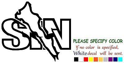 """EL SALVADOR country Map Funny Vinyl Decal Sticker Car Window laptop tablet 12/"""""""