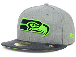super popular 952f4 bdf53 Image is loading Official-Seattle-Seahawks-New-Era-59FIFTY-Fitted-Hat-