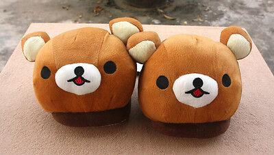 New Cute Rilakkuma Relax Bear Cosplay Plush Warm Indoor Shoes Slippers