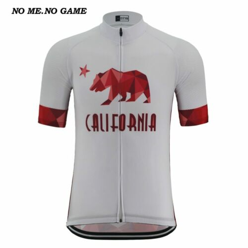 CALIFORNIA Retro Men Cycling Jersey White Road Bike Wear Ropa Ciclismo Sports