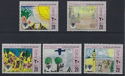 100% Wahr V5564 Libyen/ Kinderzeichnungen Minr 879/83 **
