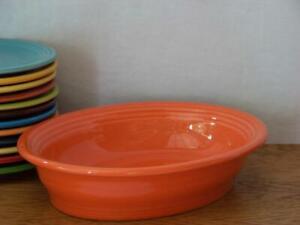 Fiesta-POPPY-Small-Oval-Bowl-Vegetable-Bowl