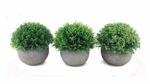 Image Is Loading Mini Artificial Topiary Plants In Pot Home Decor