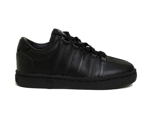 K-Swiss Little Kids/' CLASSIC LEATHER Preschool Shoes Black 50144 a