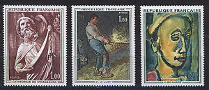 FRANCIA-FRANCE-1971-MNH-SC-1295-1297-Fine-Art