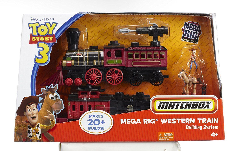 Matchbox toy story 3 mega - plattform westlichen eisenbahnbau - system neue versiegelt