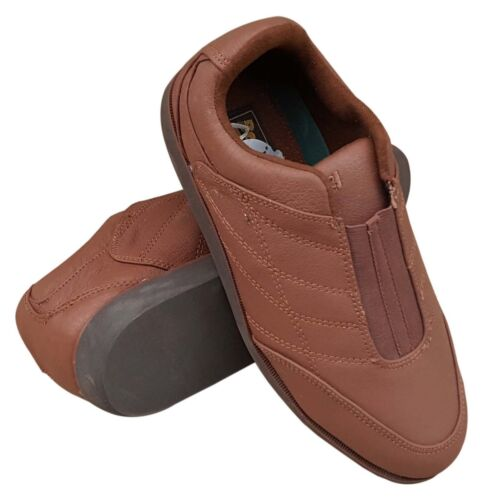 BOTRA Worthing Marked 21 Ladies Girls Brown Sports Trainer Style Bowls Shoes