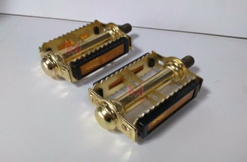 """NEW Gold Rat Trap Bicycle Pedals 1//2/"""" Old School Vintage Style BMX MTB Bike"""