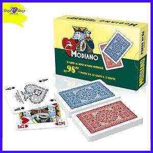 Carte-da-Gioco-Modiano-Ramino-98-ORIGINALI-2-Mazzi-98-Carte-Poker