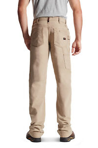 Ariat-Men-039-s-FR-M4-Relaxed-Workhorse-Khaki-Bootcut-Pants-10017227