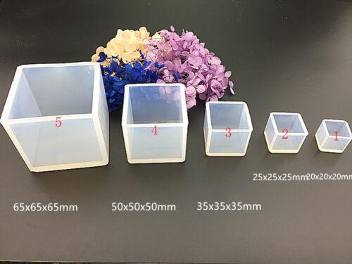 Cubo Translúcido Resina Molde de Silicona Molde de Fabricación de Joyería Herramienta de BRICOLAJE Epoxi Craft