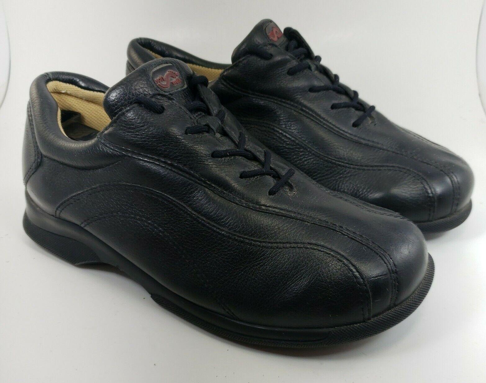 SOFTWALK alpha-1 Black Leather Women's 8.5 W