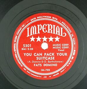 FATS-DOMINO-You-Can-Pack-Your-Suitcase-I-Lived-My-Life-10IN-1954-R-amp-B-VG-LISTEN