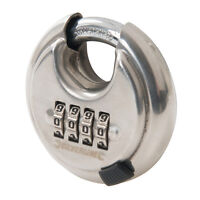 Stainless Steel Combination Disc Padlock 4-Digit 70mm  Security Combination