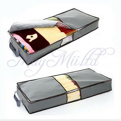 70L Clothes Duvet Zipped Handles Clothing Pillow Storage Bag Under Bed