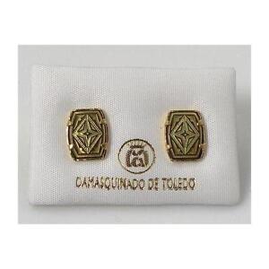Damascene-Gold-Rectangle-Geometric-Earrings-by-Midas-of-Toledo-Spain-Style-3115G