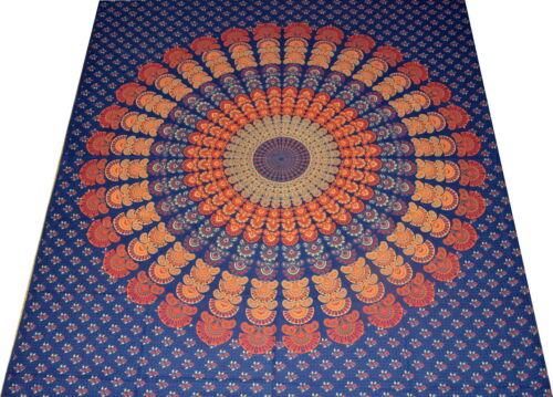 Tagesdecke Indien Bettüberwurf Wandbehang Batik Vorhang Überwurf Mandala 2.8