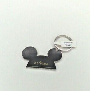 Walt Disney World Mickey Mouse Ears Poppy  Metal Keychain NEW