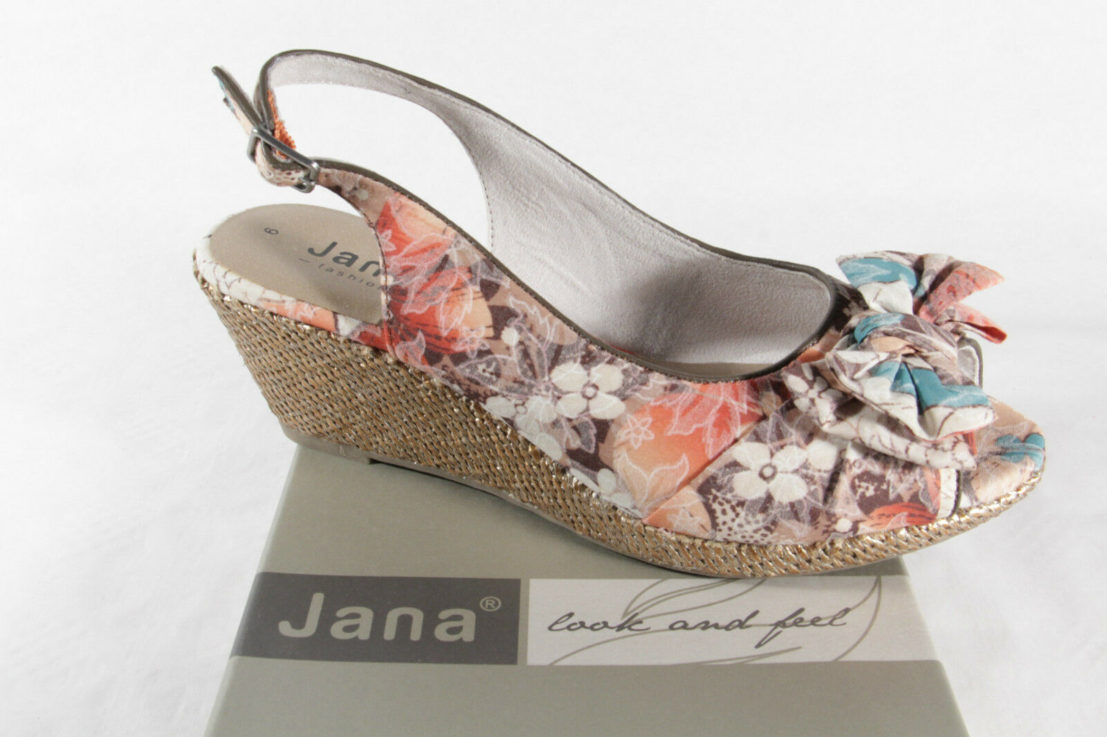 Jana Women's Sandals Multicolour, Soft Inner Sole , Rubber Sole New