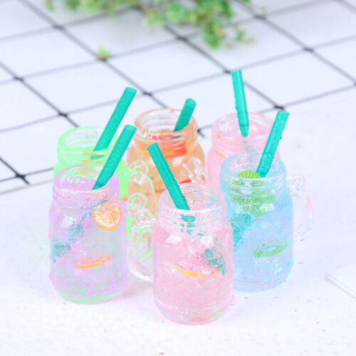 1//6 1//12 Dollhouse Miniature Ice Water Cups Toy Doll House Accessories Gi Jh