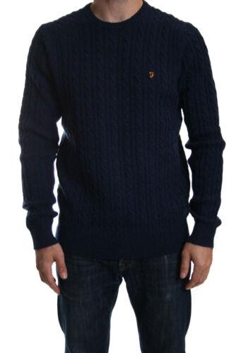 Girocollo in 80 True in £ Sale a lana girocollo Kirtley Navy Farah Rrp cavi con 4fqxH6w