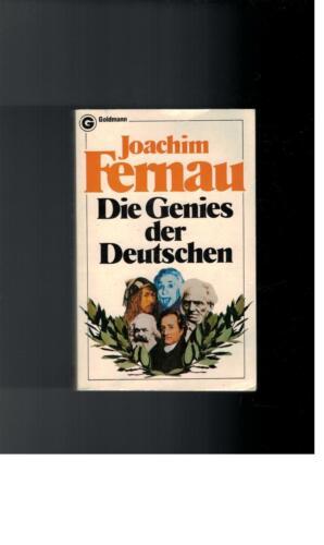 1 von 1 - Joachim Fernau - Die Genies der Deutschen - 1982
