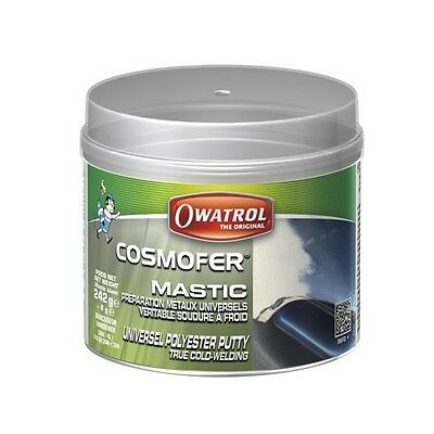 Cosmofer Owatrol 250 Gr Mastic Polyester + Durcisseur Blanc Soudure A Froid